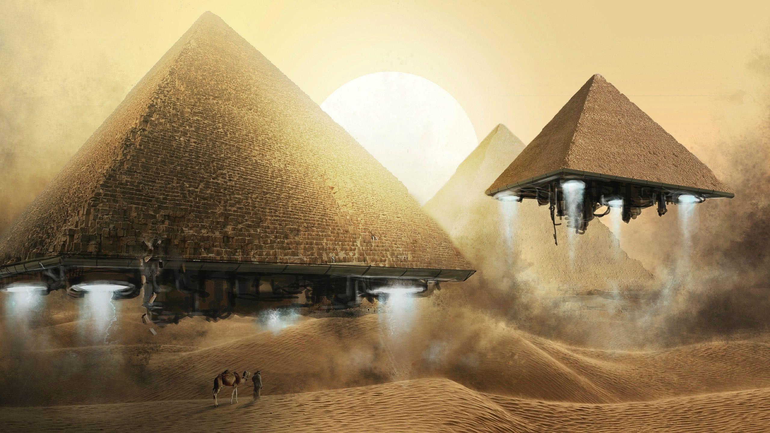 alien pyramids wqhd 1440p wallpaper