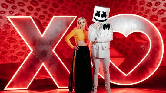 anne marie and marshmello wqhd 1440p wallpaper