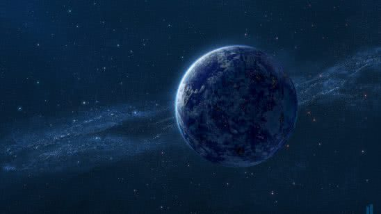 blue planet and space dust wqhd 1440p wallpaper