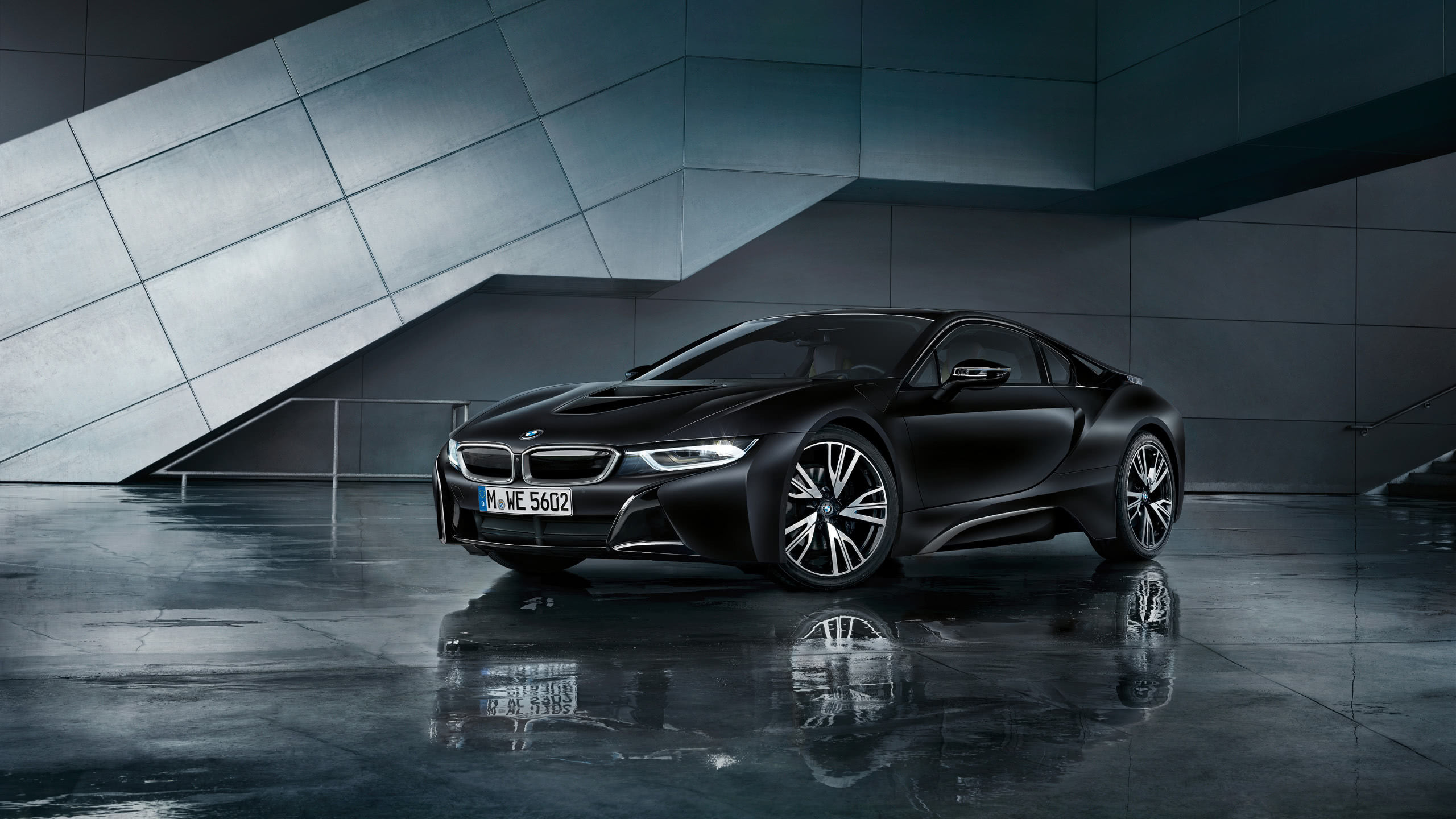 bmw i8 black wqhd 1440p wallpaper
