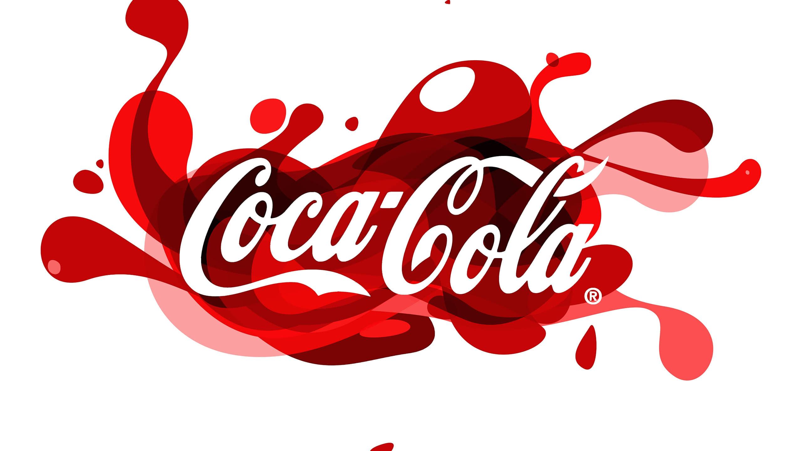 coca cola logo wqhd 1440p wallpaper