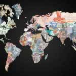 currencies of the world map wqhd 1440p wallpaper
