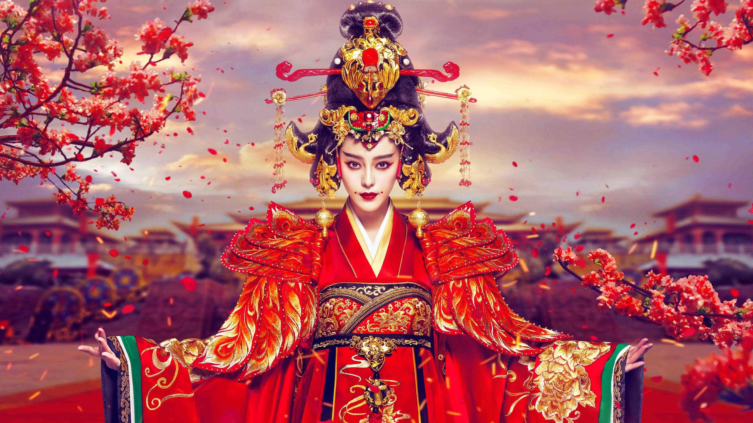 empress of china wu zetian wu mei wqhd 1440p wallpaper