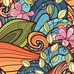 floral art pattern two uhd 4k wallpaper