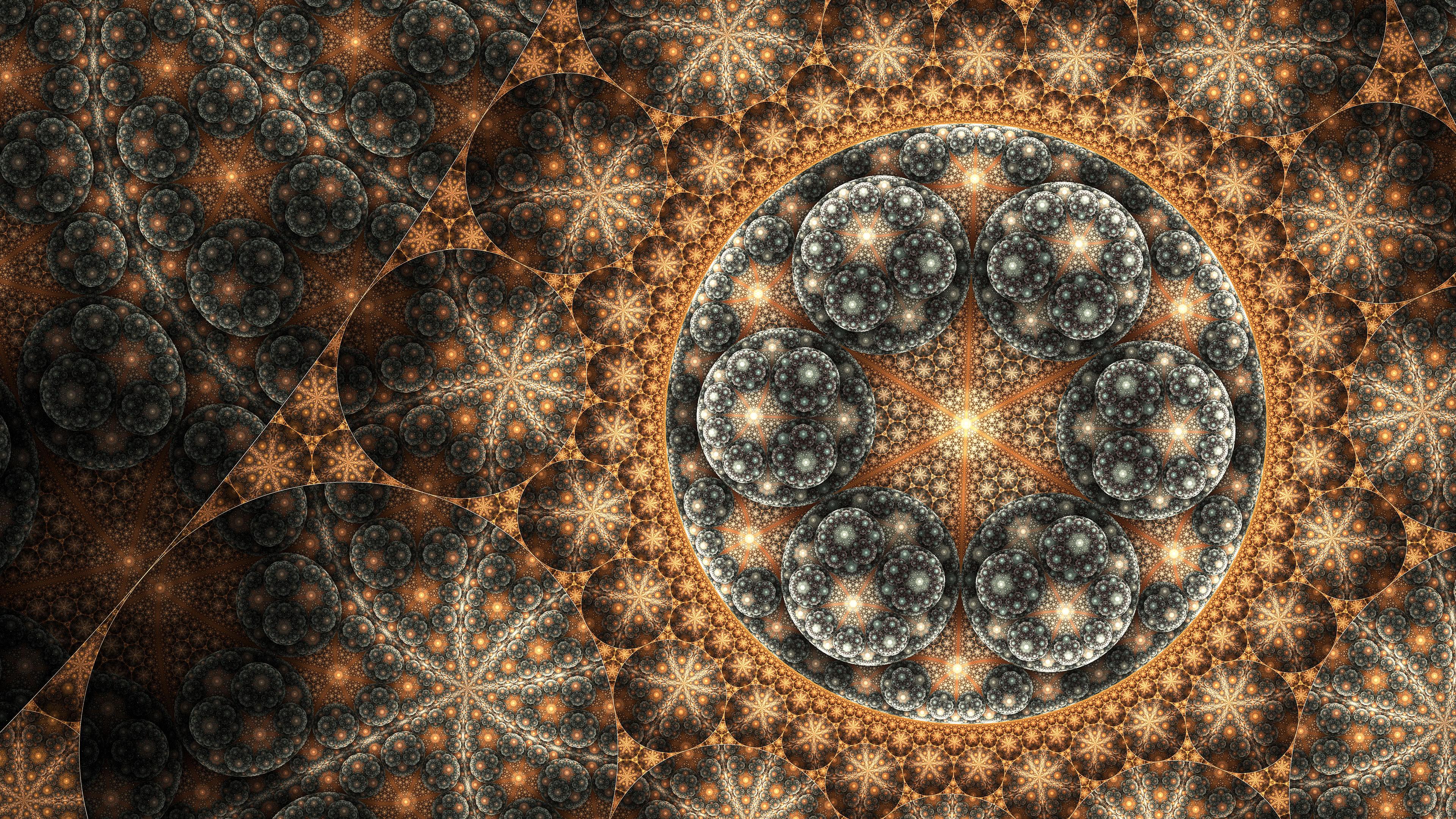 fractal art three uhd 4k wallpaper