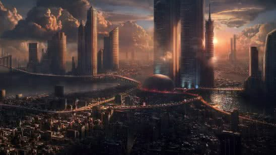 futuristic city wqhd 1440p wallpaper