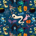 halloween pattern wqhd 1440p wallpaper