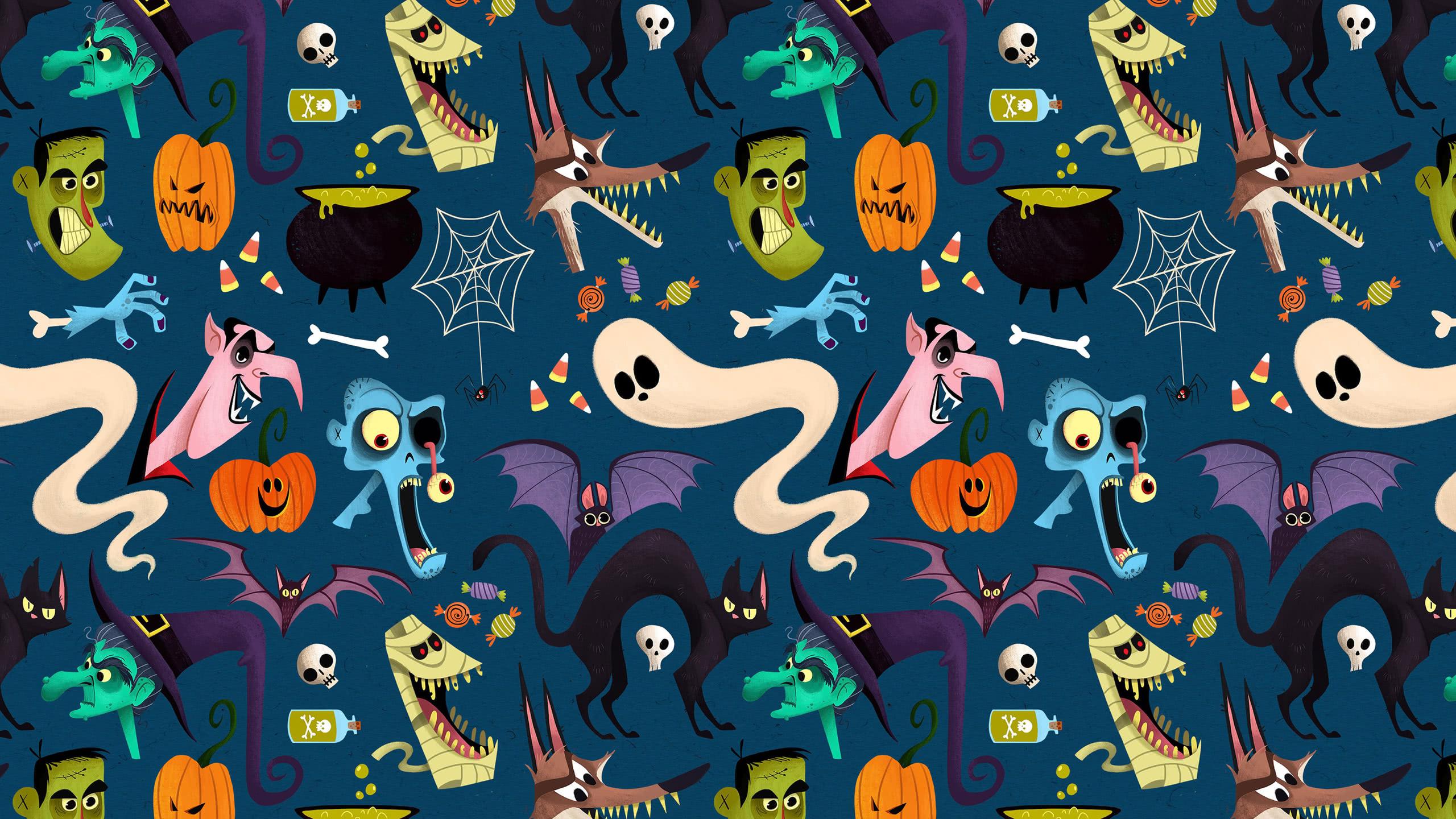 Halloween Pattern Wallpaper.Halloween Pattern Wqhd 1440p Wallpaper Pixelz