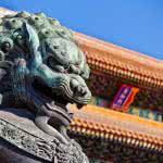 imperial guardian lion forbidden city beijing china wqhd 1440p wallpaper