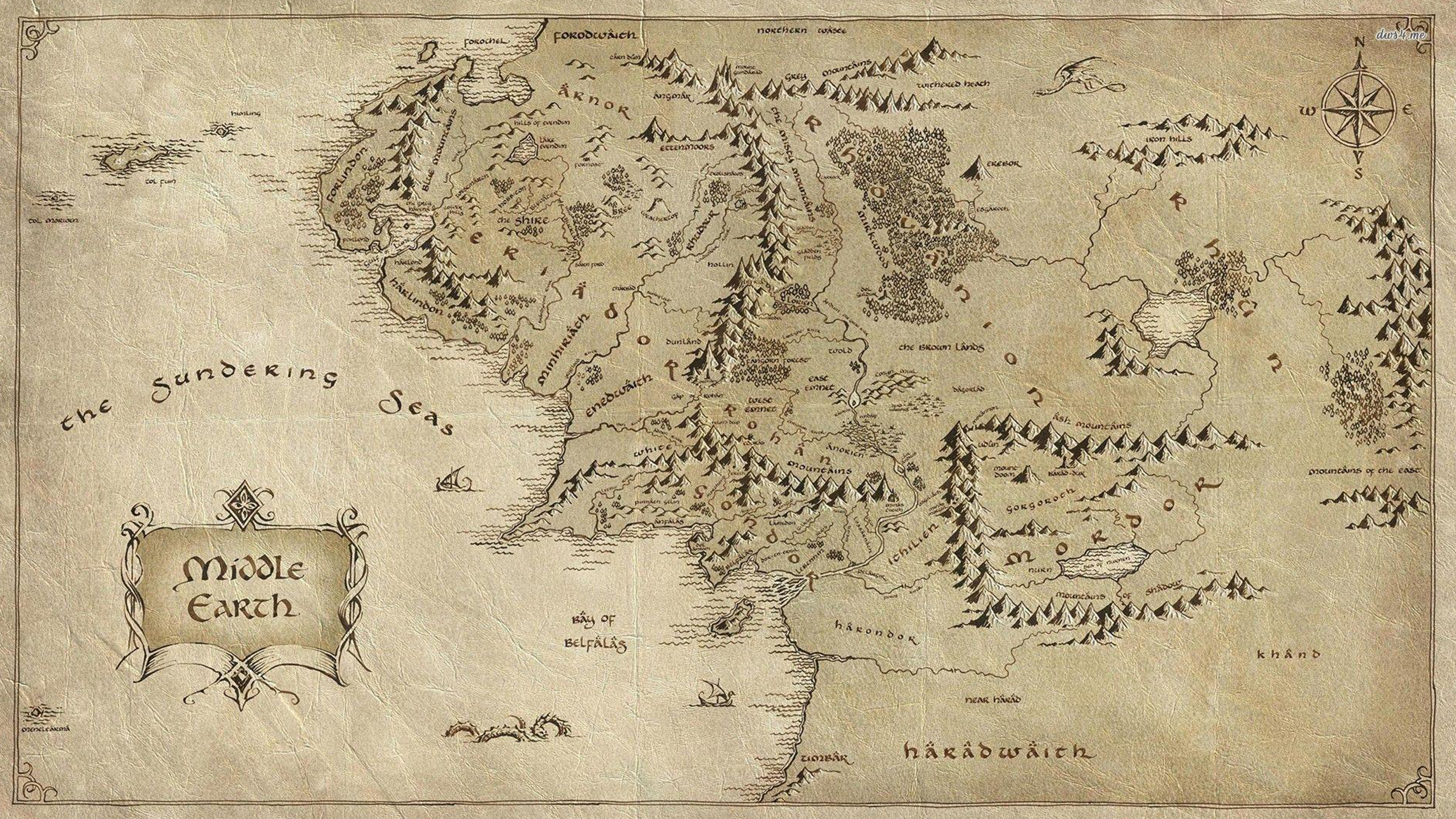 Lord Of The Rings Middle Earth Map Wqhd 1440p Wallpaper Pixelz