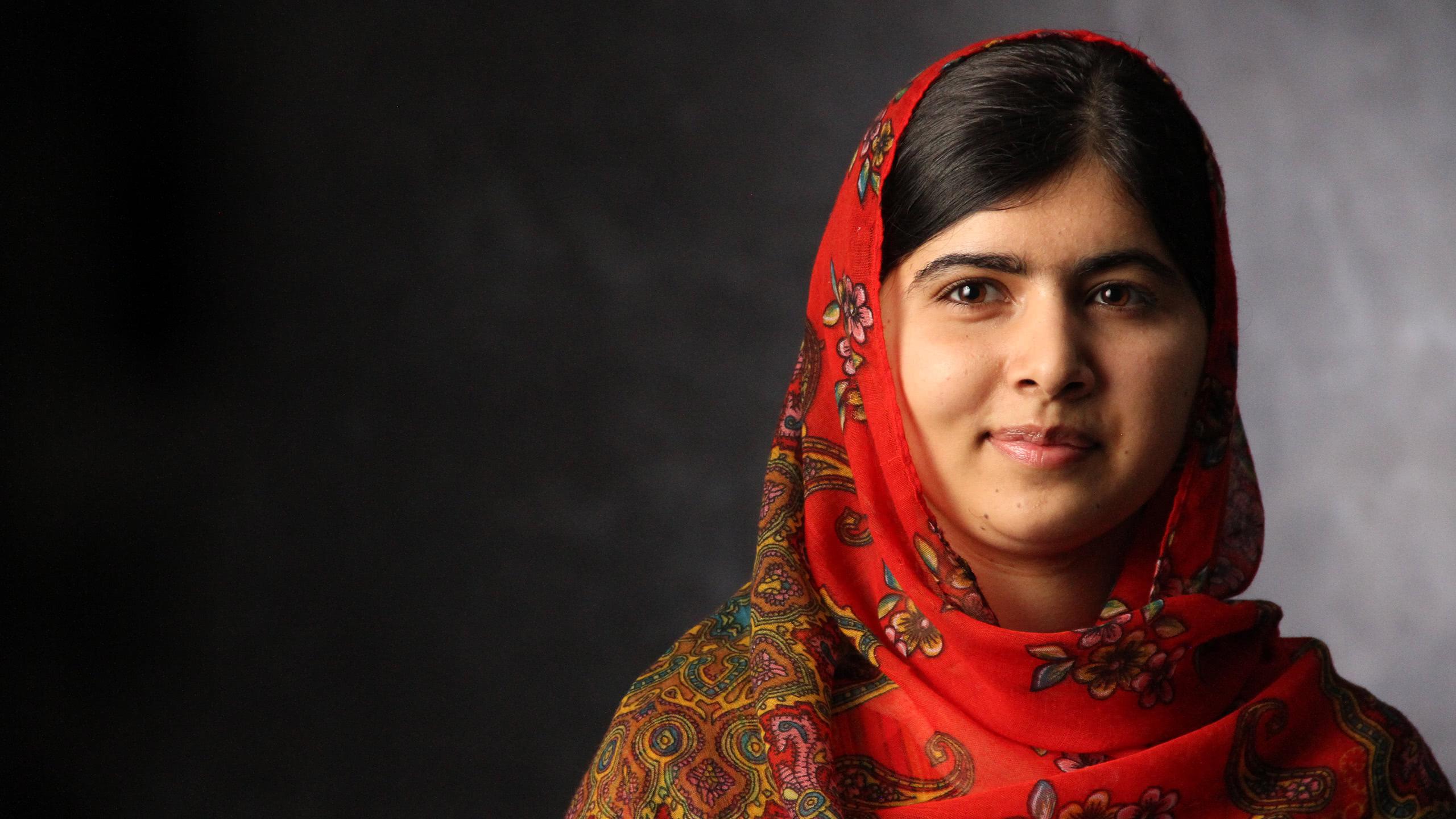 malala yousafzai portrait wqhd 1440p wallpaper