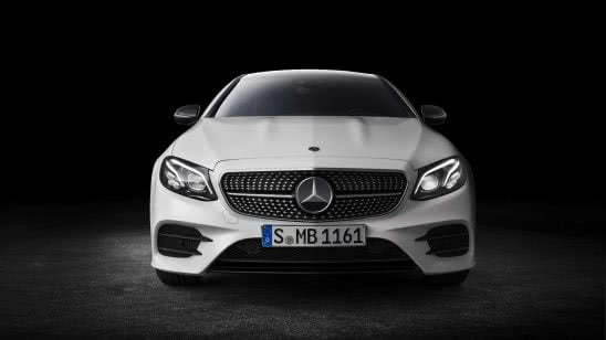 mercedes benz e class coupe front wqhd 1440p wallpaper
