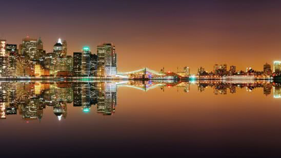 new york skyline night united states wqhd 1440p wallpaper