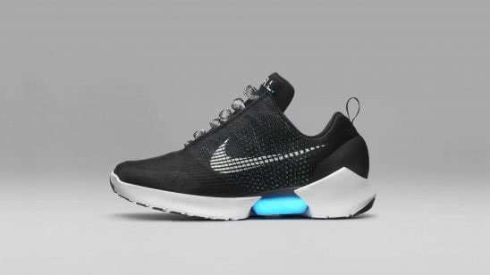 nike self lacing smart shoe wqhd 1440p wallpaper