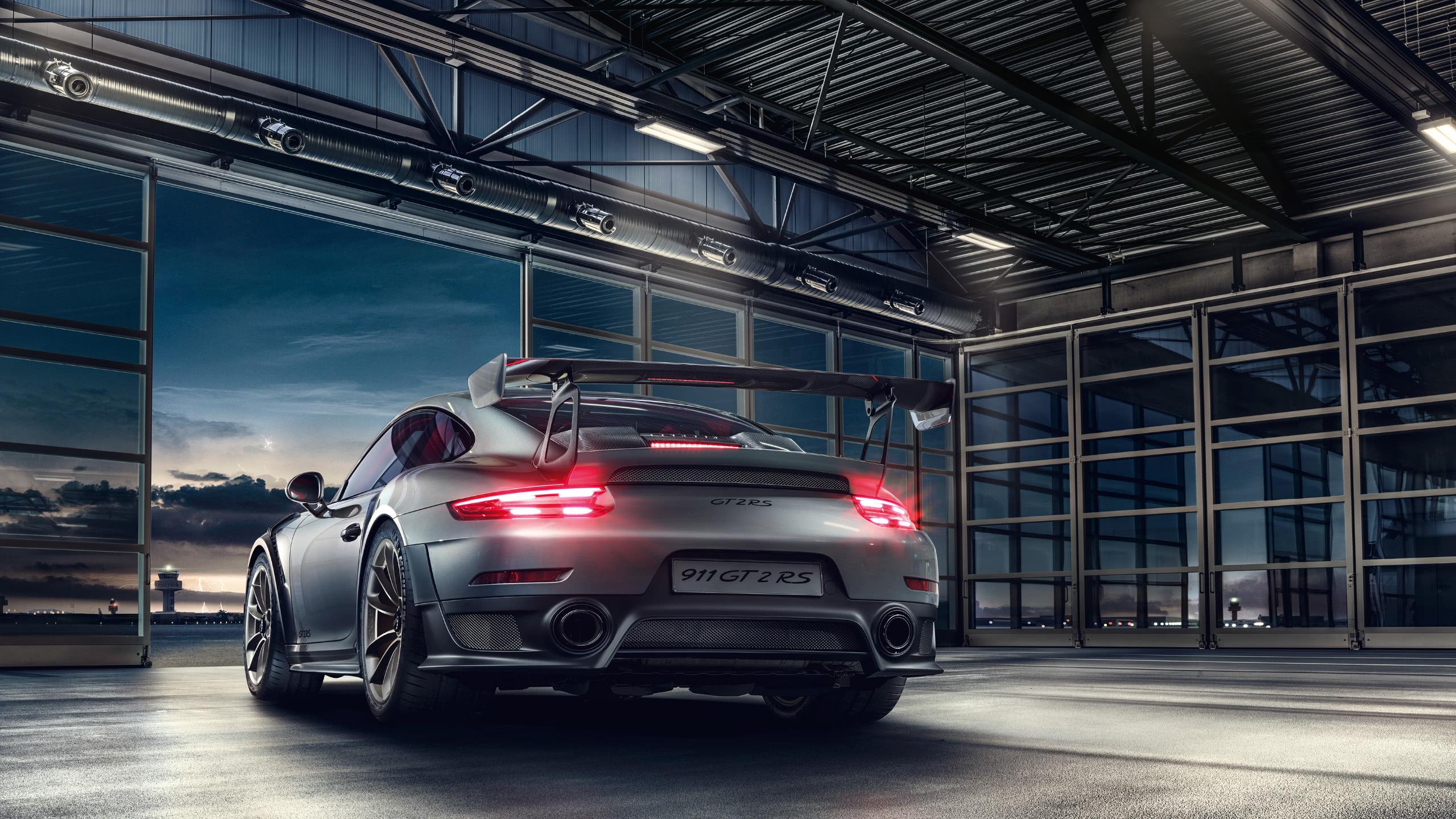 porsche 911 gt2 rs rear wqhd 1440p wallpaper