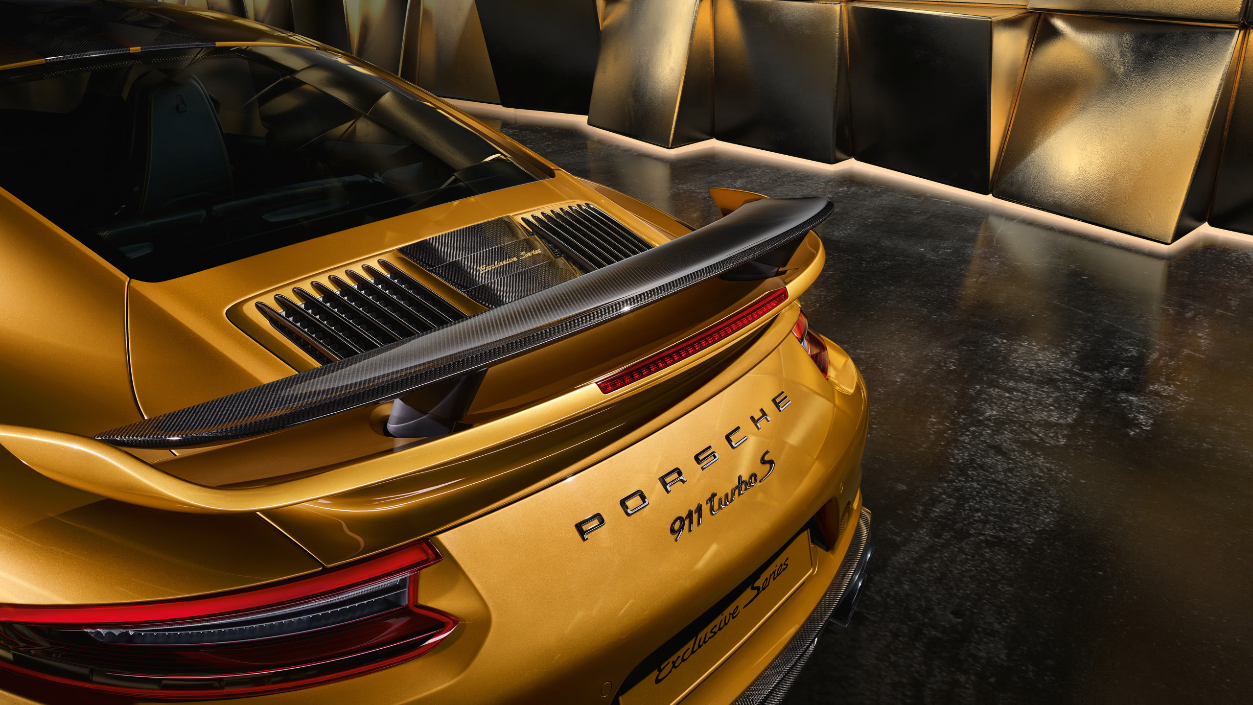porsche 911 turbo s rear wqhd 1440p wallpaper