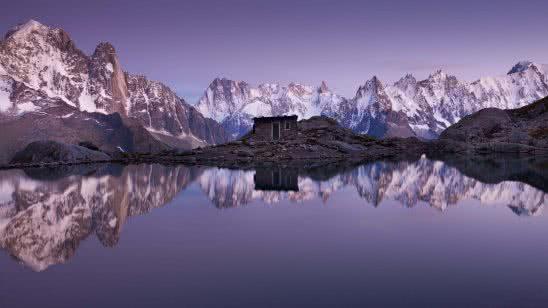refuge du lac blanc mont blanc chamonix france uhd 4k wallpaper