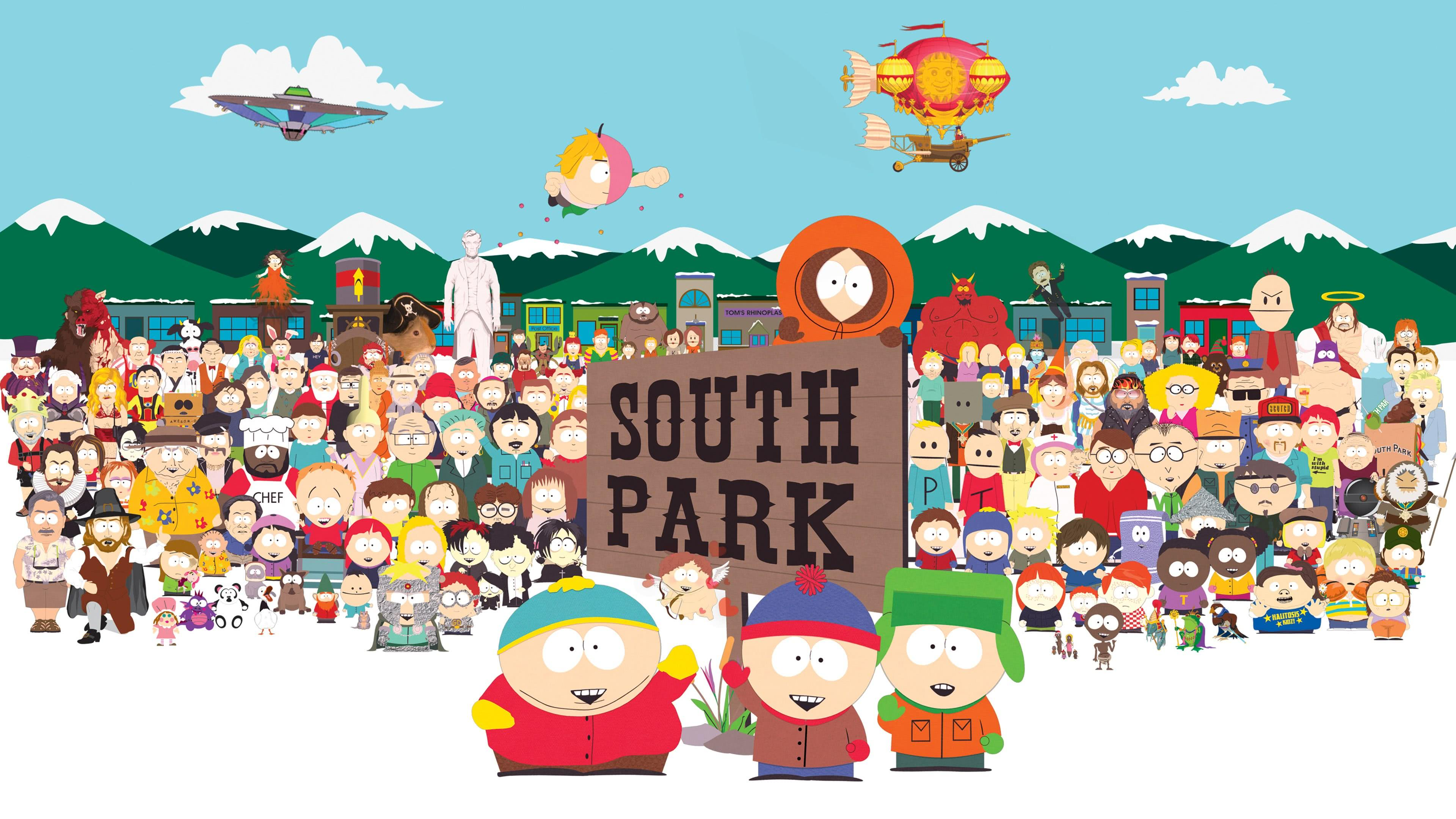 south park town uhd 4k wallpaper