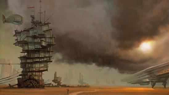 steampunk landscape wqhd 1440p wallpaper