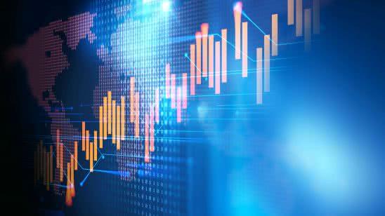 stock market electronic chart increase uhd 4k wallpaper