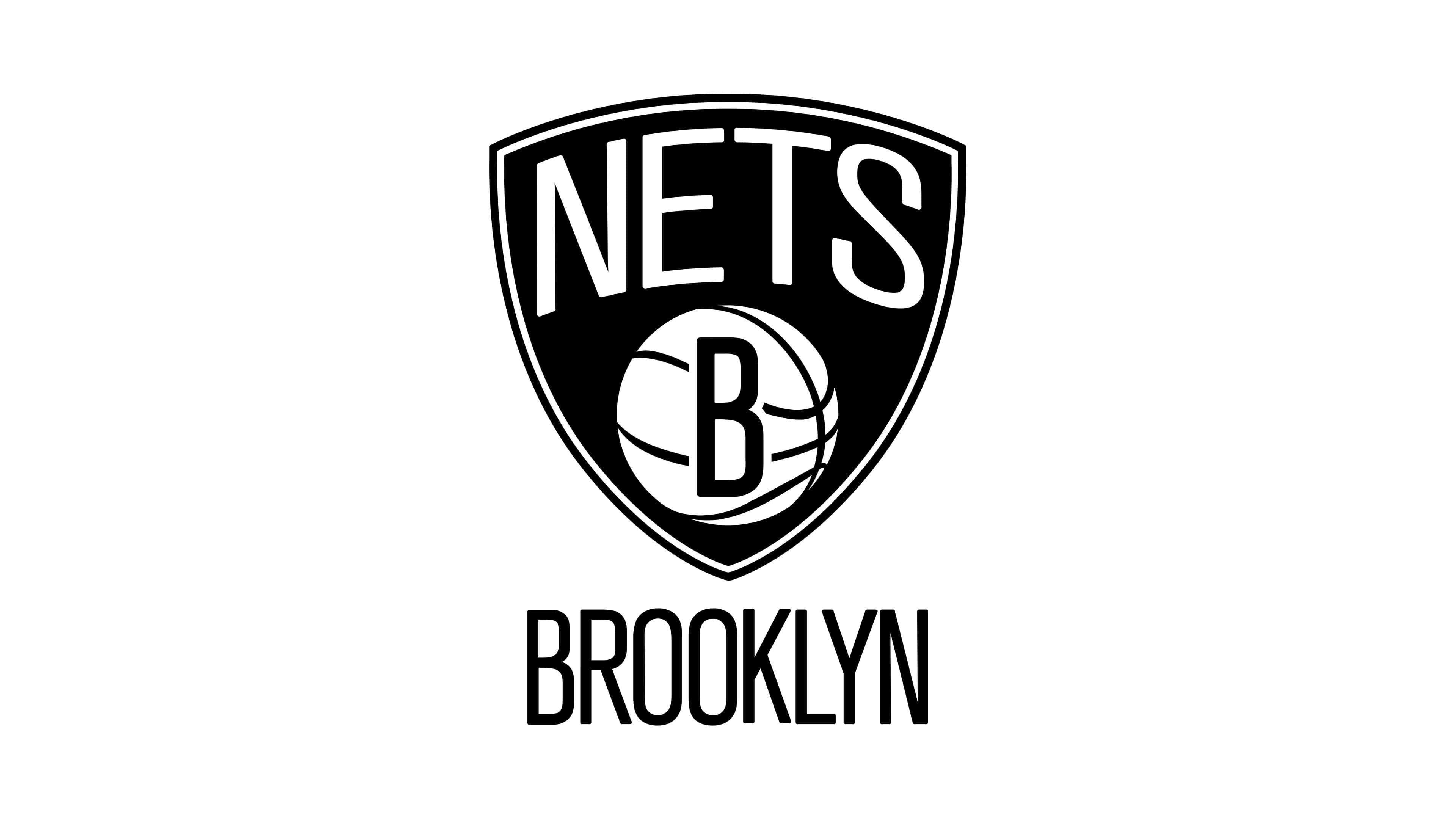 brooklyn nets nba logo uhd 4k wallpaper