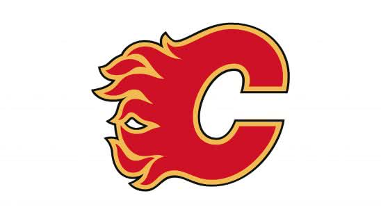 calgary flames nhl logo uhd 4k wallpaper