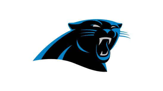 carolina panthers nfl logo uhd 4k wallpaper