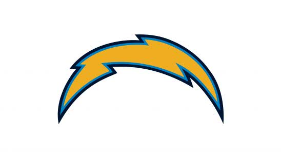 chargers nfl logo uhd 4k wallpaper