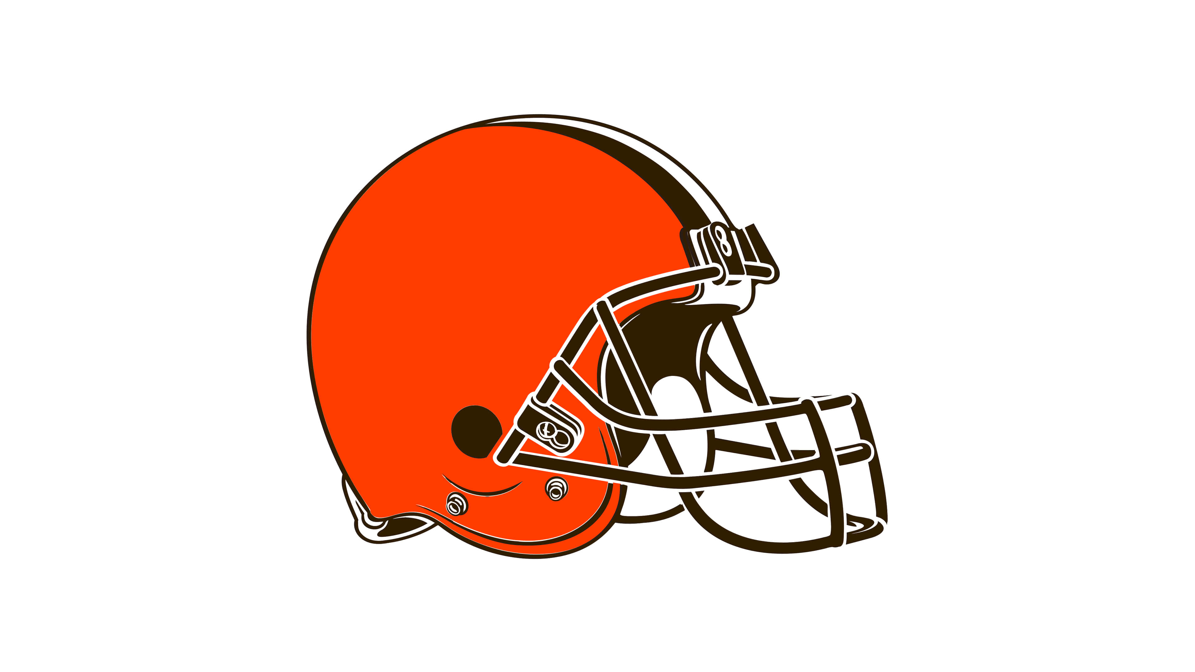 cleveland browns nfl logo uhd 4k wallpaper