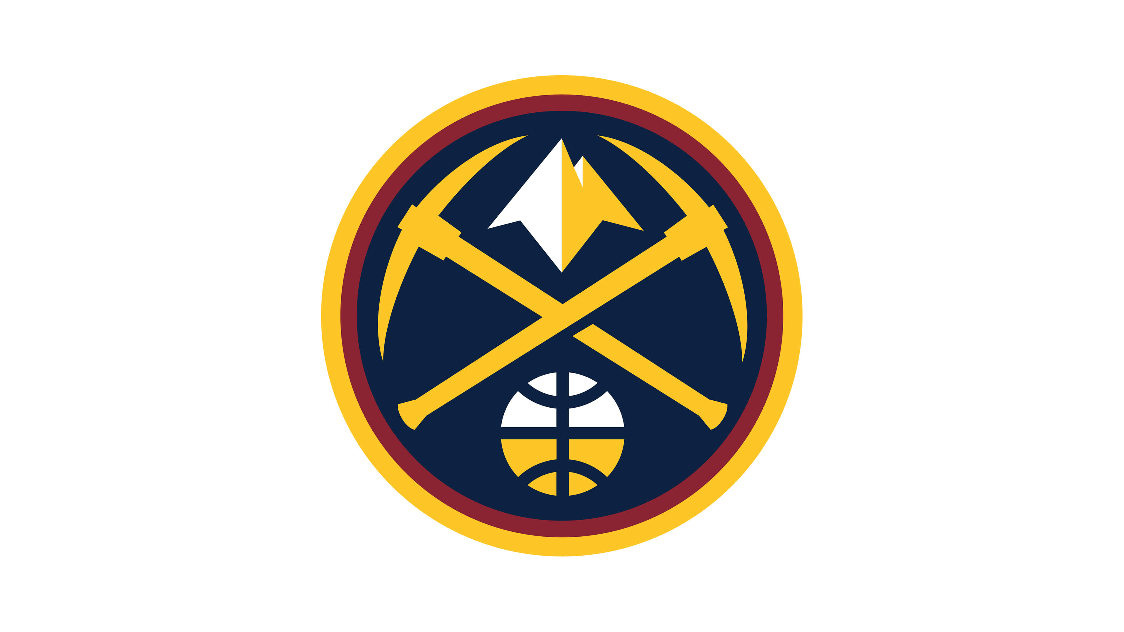 denver nuggets nba logo uhd 4k wallpaper