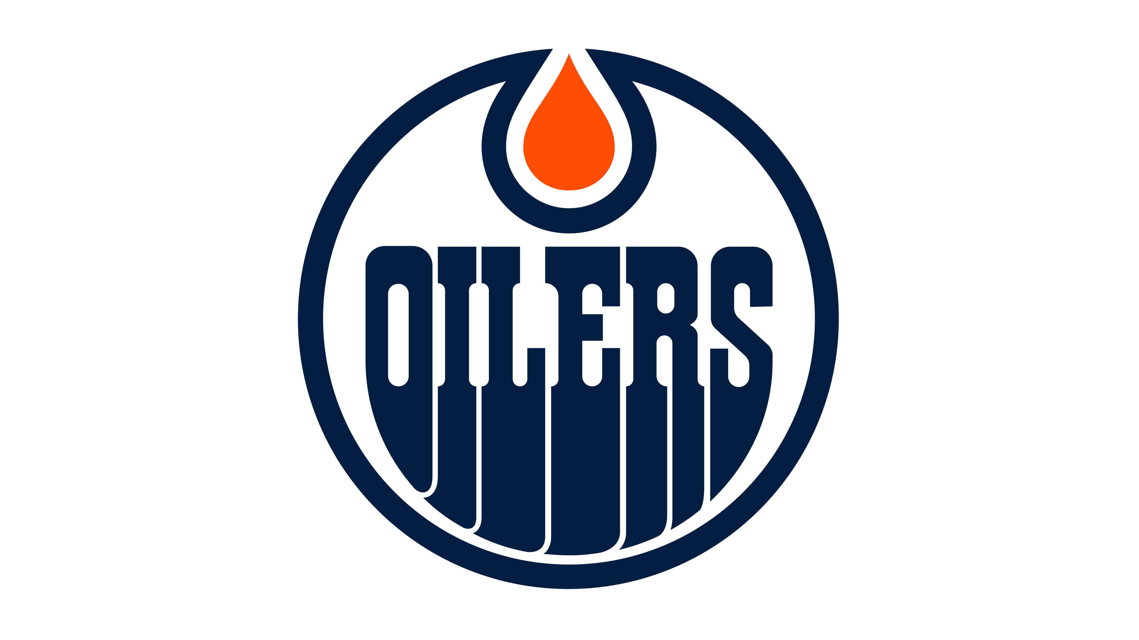 edmonton oilers nhl logo uhd 4k wallpaper