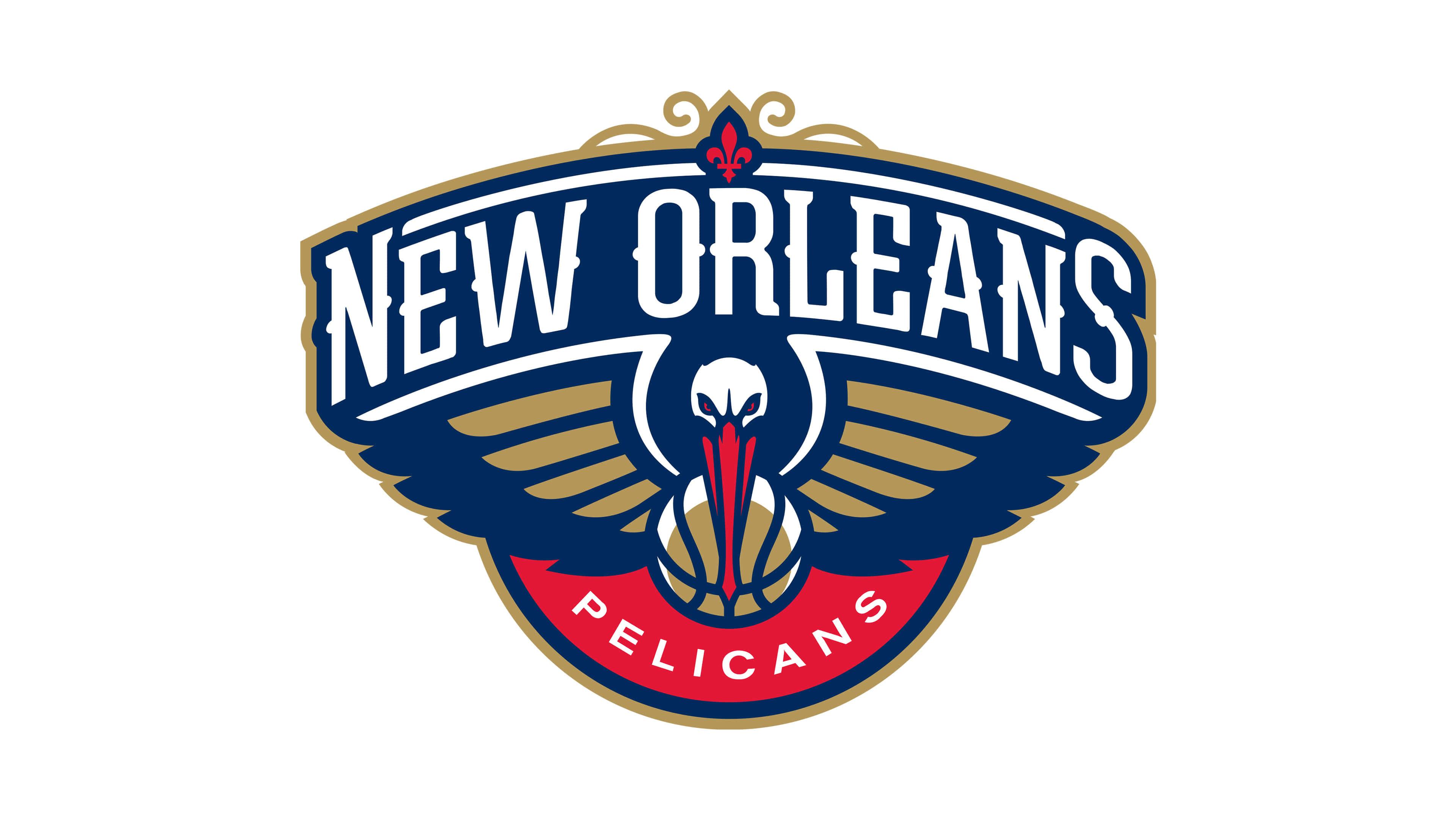 new orleans pelicans nba logo uhd 4k wallpaper