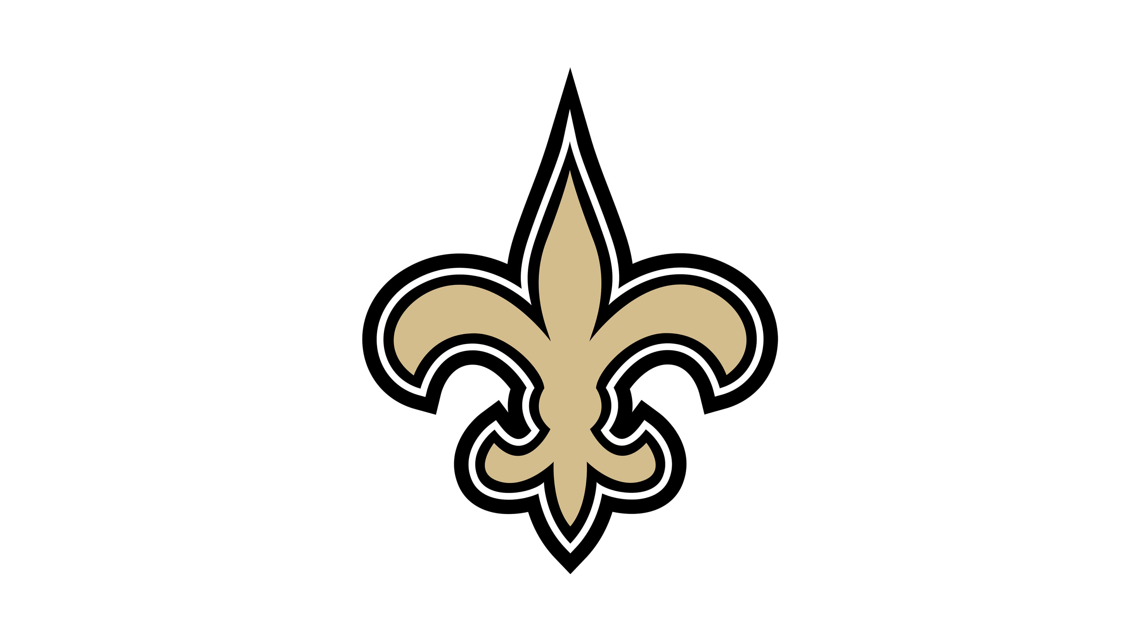 new orleans saints nfl logo uhd 4k wallpaper