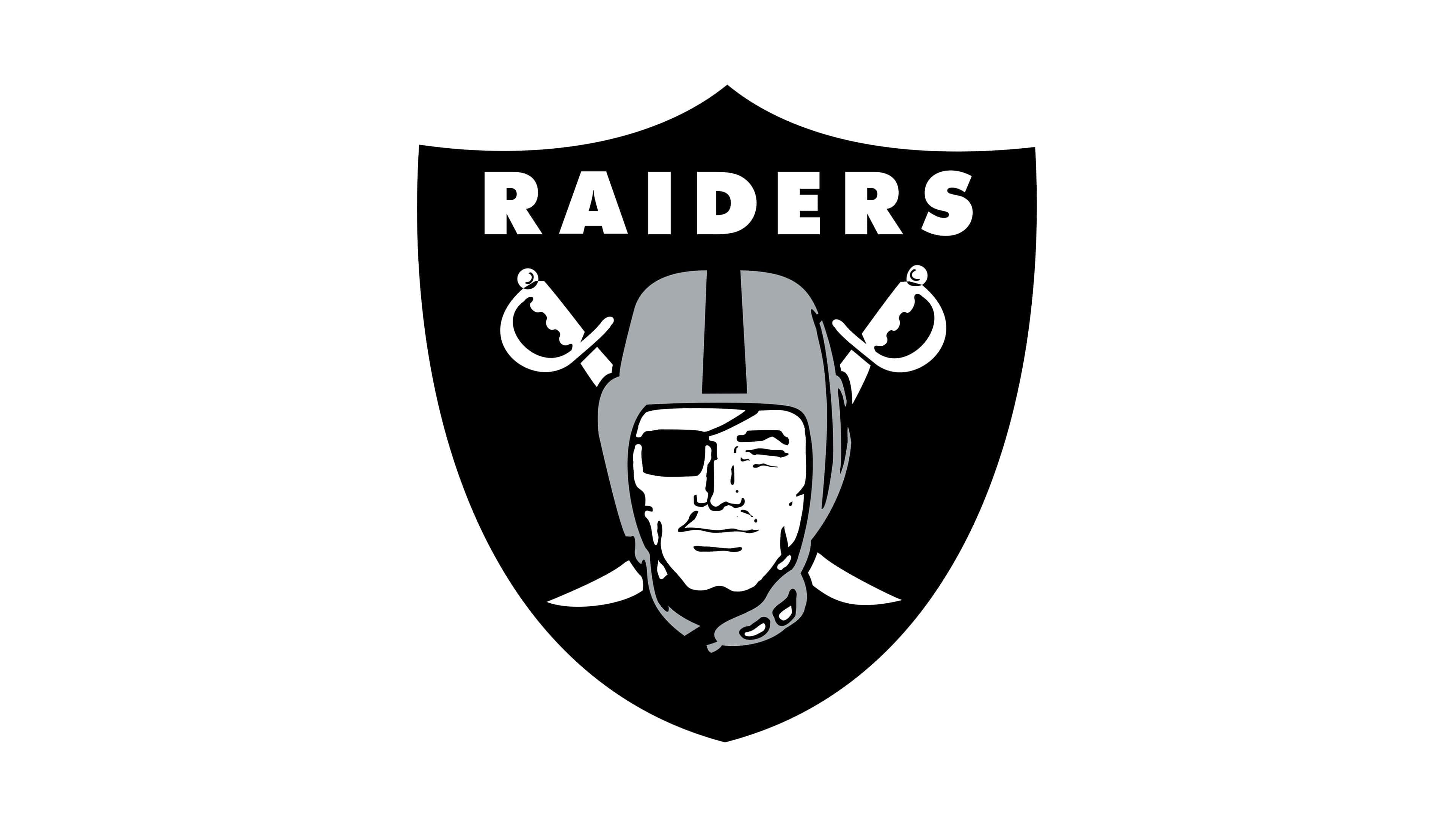 oakland raiders nfl logo uhd 4k wallpaper