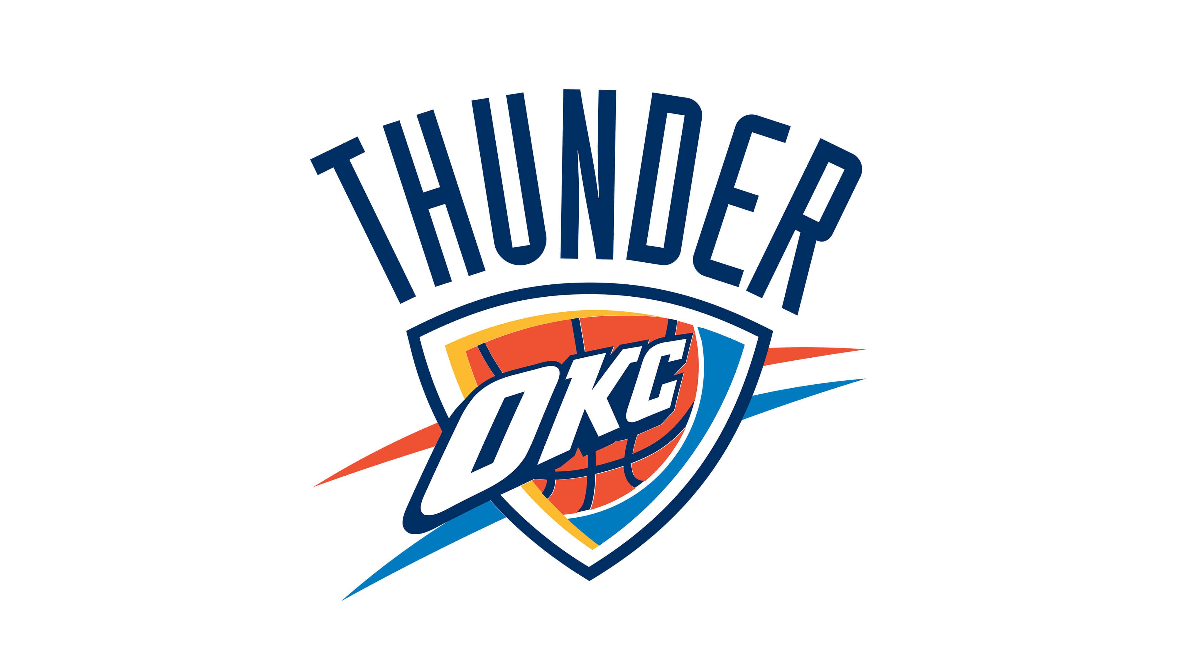 oklahoma city thunder nba logo uhd 4k wallpaper
