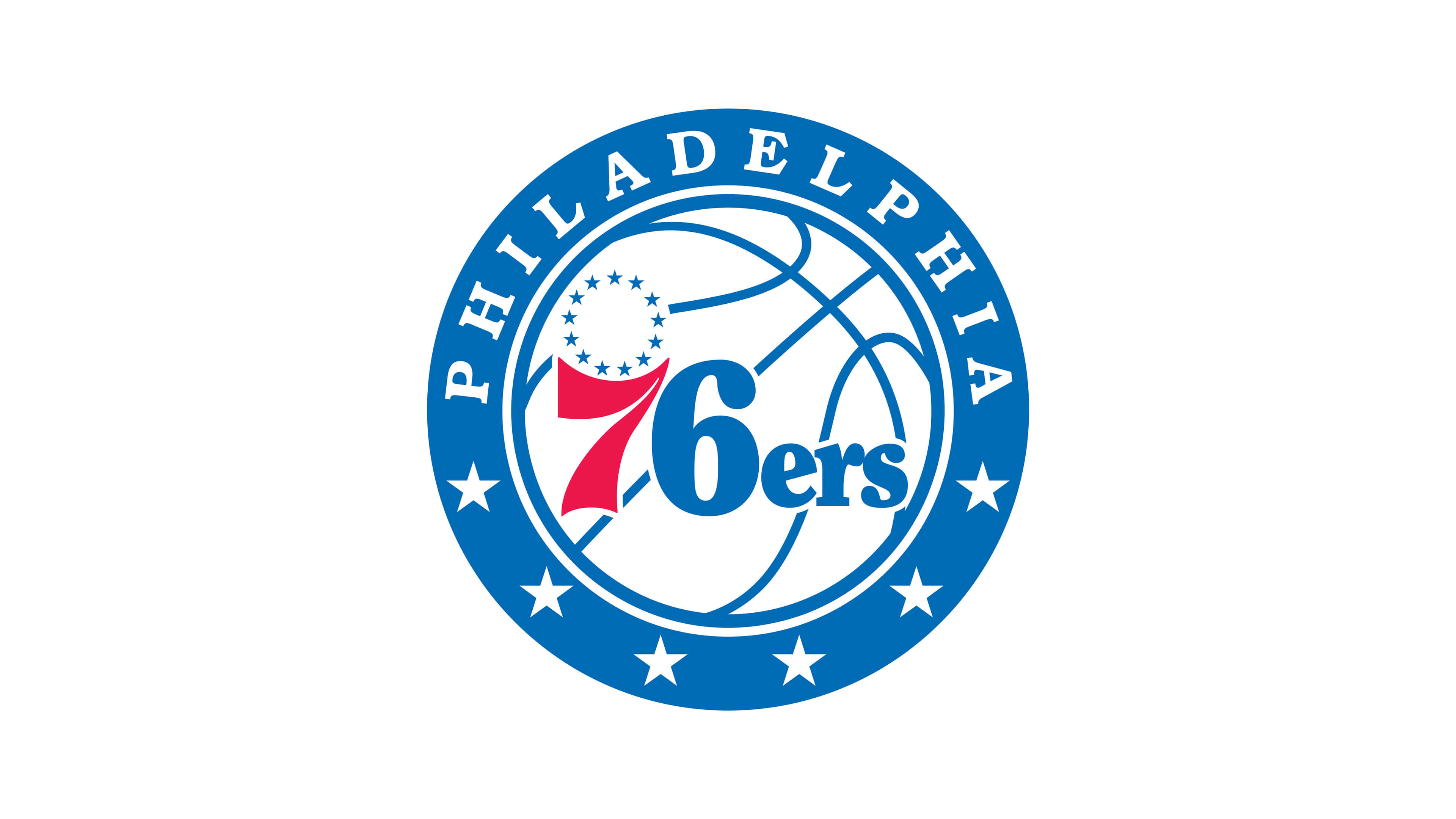 philadelphia 76ers nba logo uhd 4k wallpaper