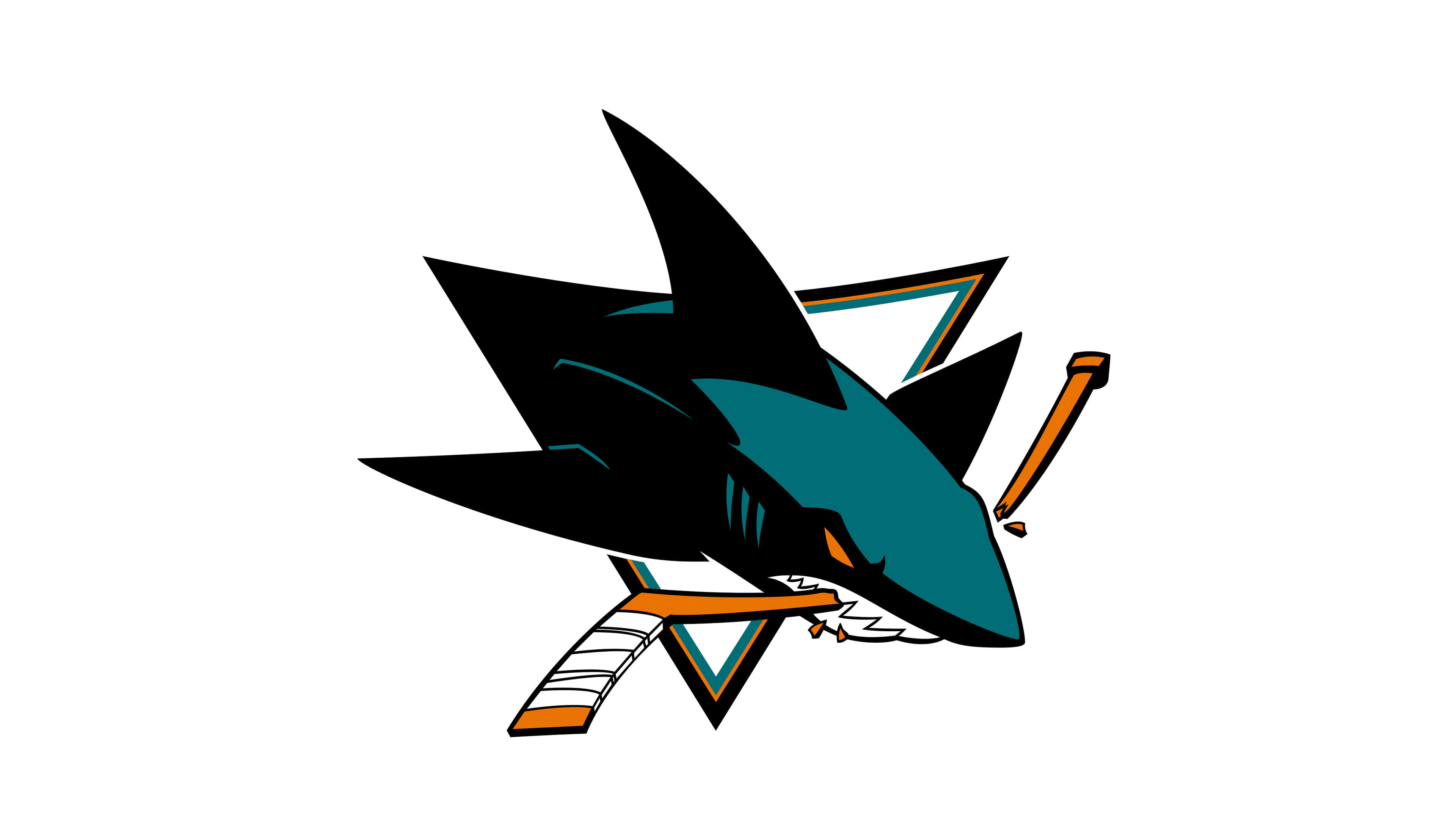 san jose sharks nhl logo uhd 4k wallpaper