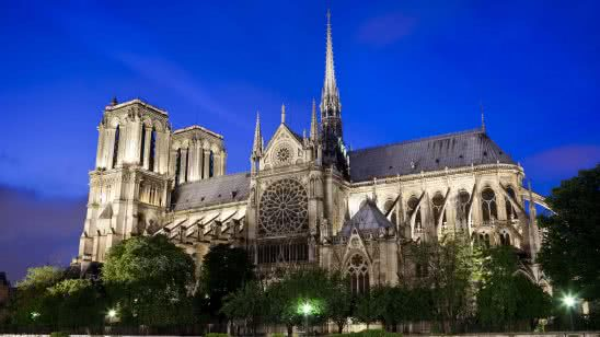 cathedrale notre dame paris france uhd 4k wallpaper