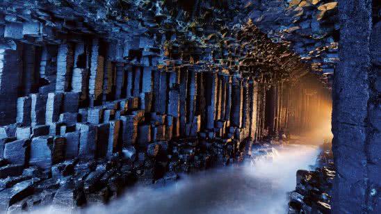 fingals cave scotland uhd 4k wallpaper