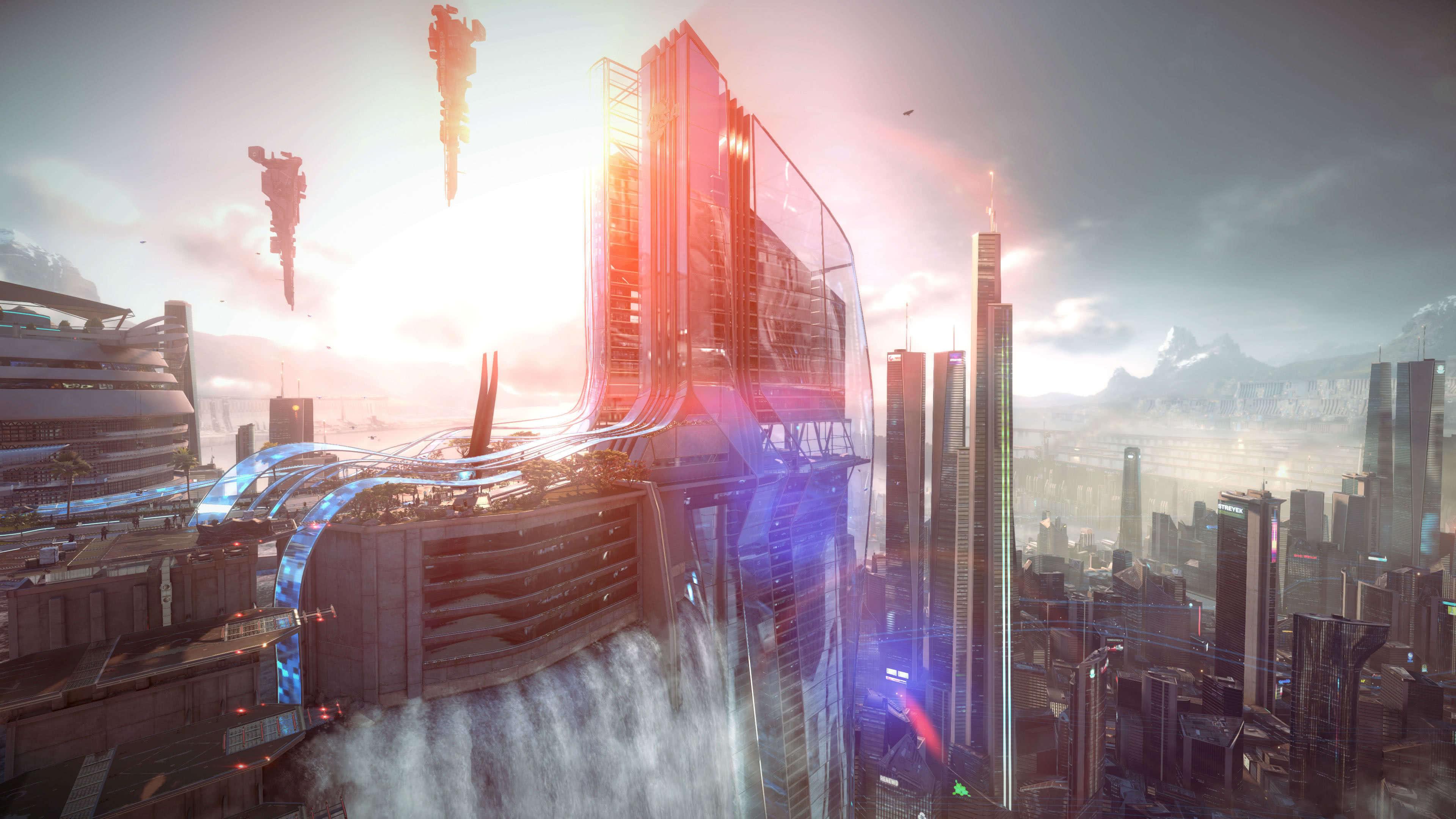 killzone shadow fall tower uhd 4k wallpaper