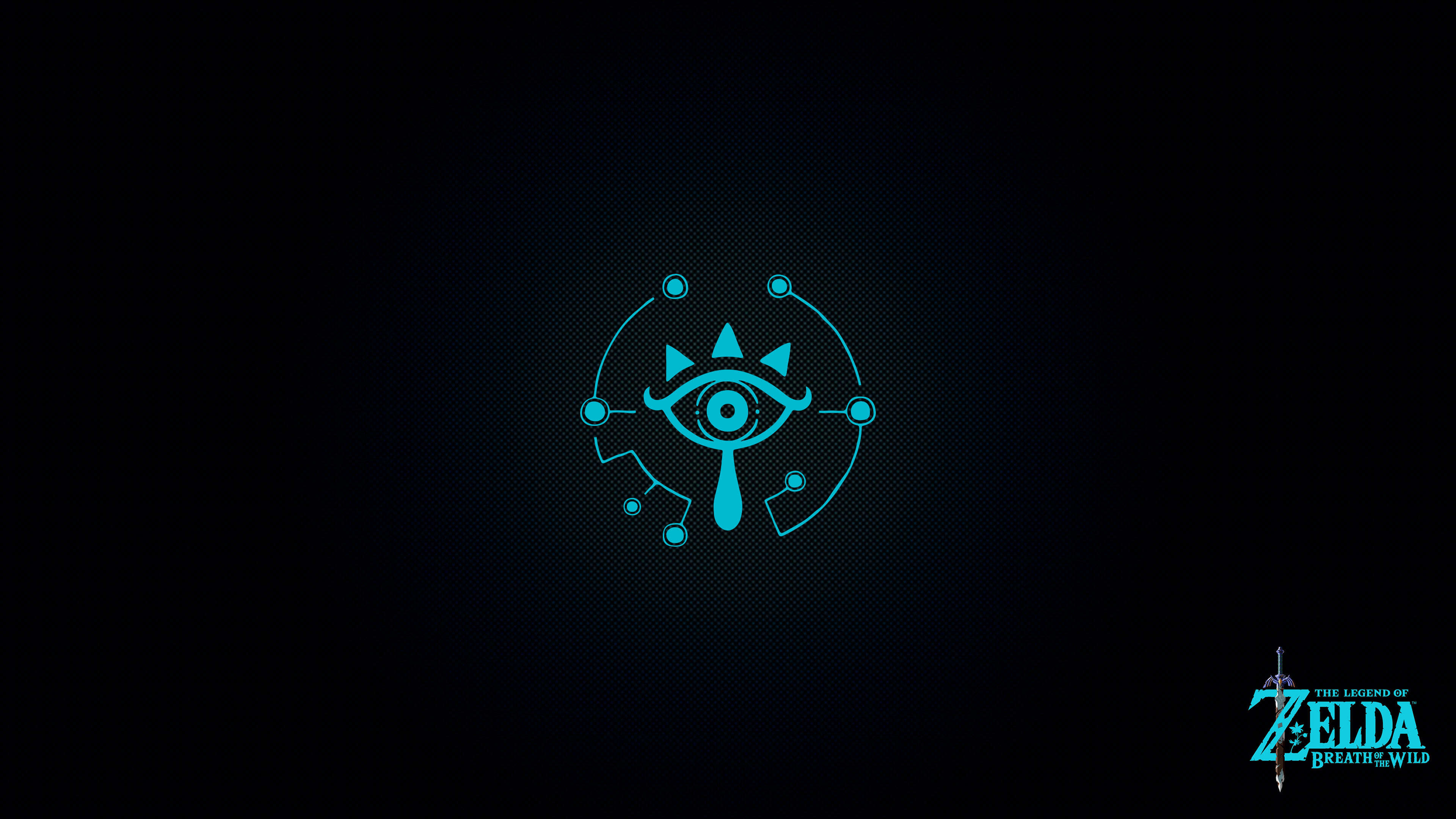 legend of zelda breath of the wild eye symbol uhd 4k wallpaper
