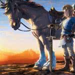 legend of zelda breath of the wild link and horse uhd 4k wallpaper