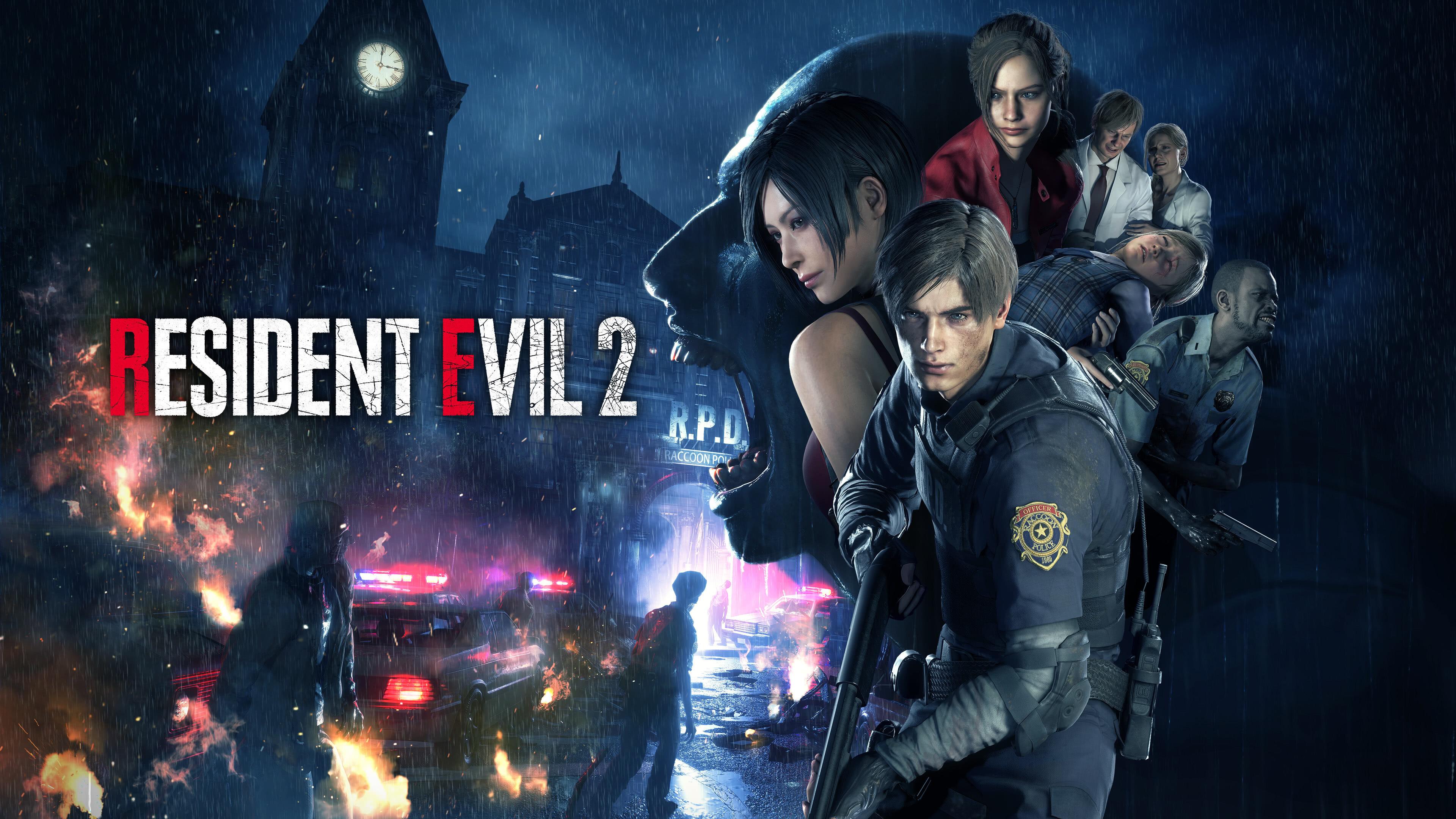 resident evil 2 remake characters uhd 4k wallpaper