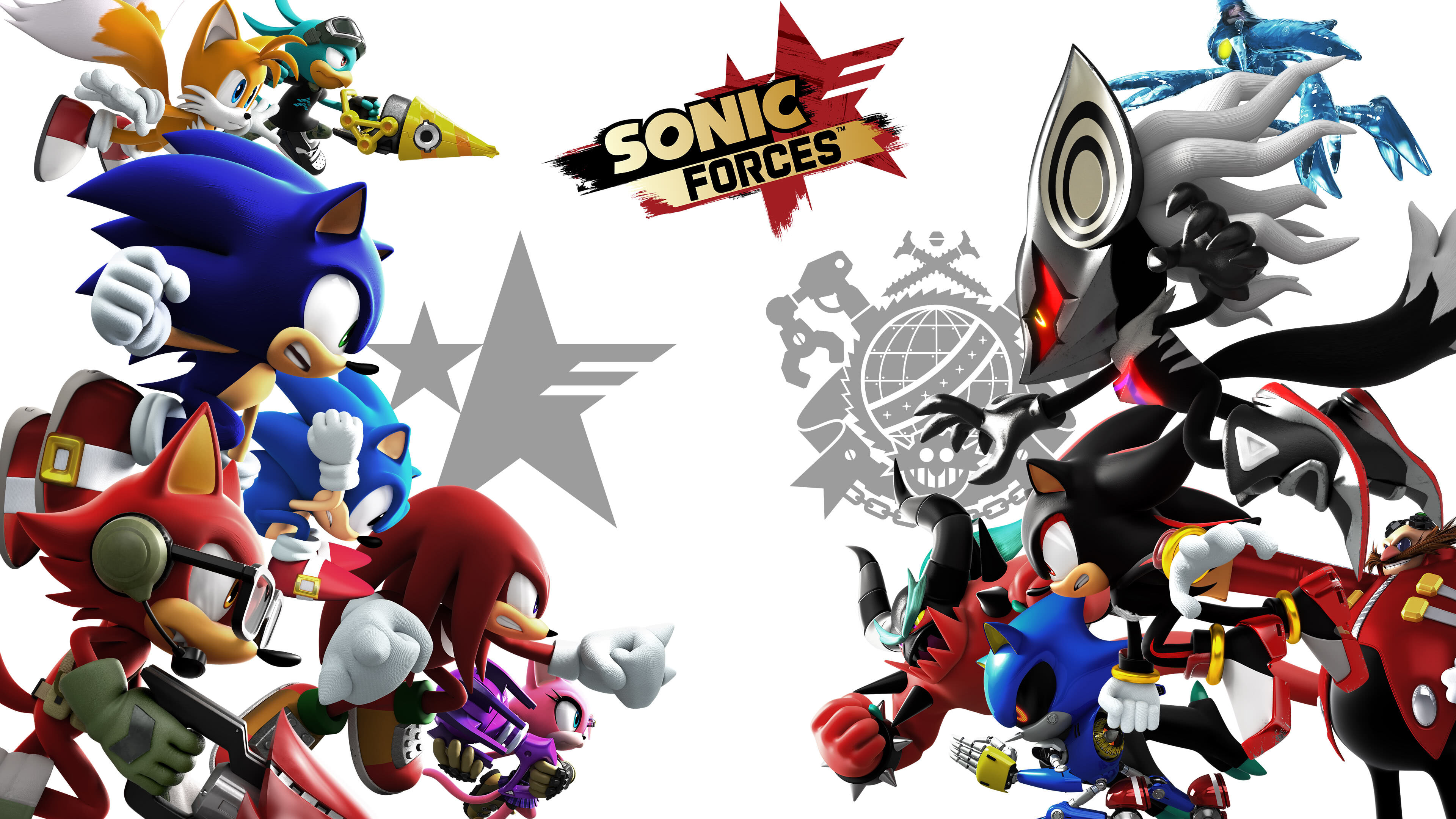 sonic forces characters uhd 4k wallpaper