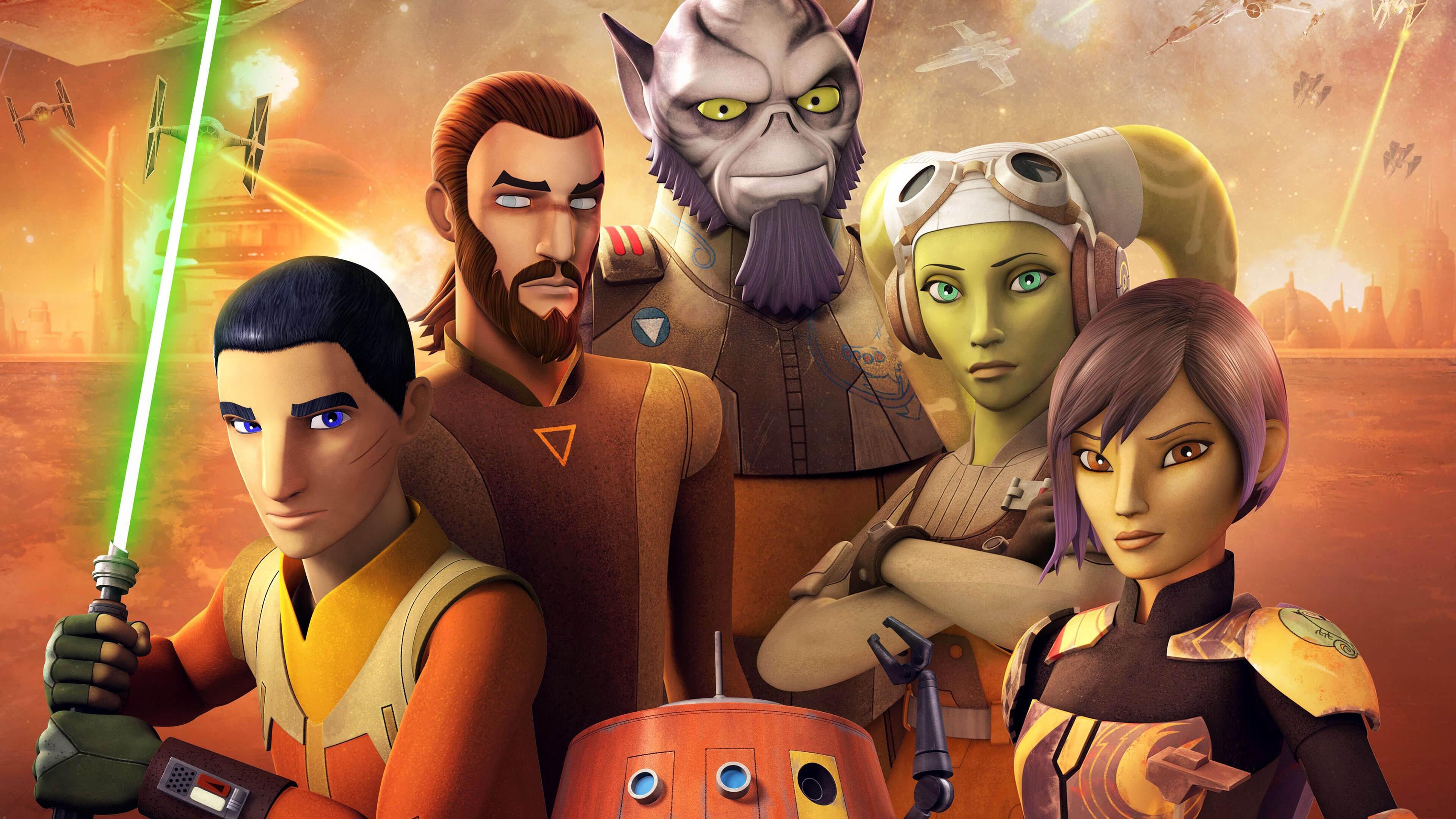 star wars rebels characters uhd 4k wallpaper