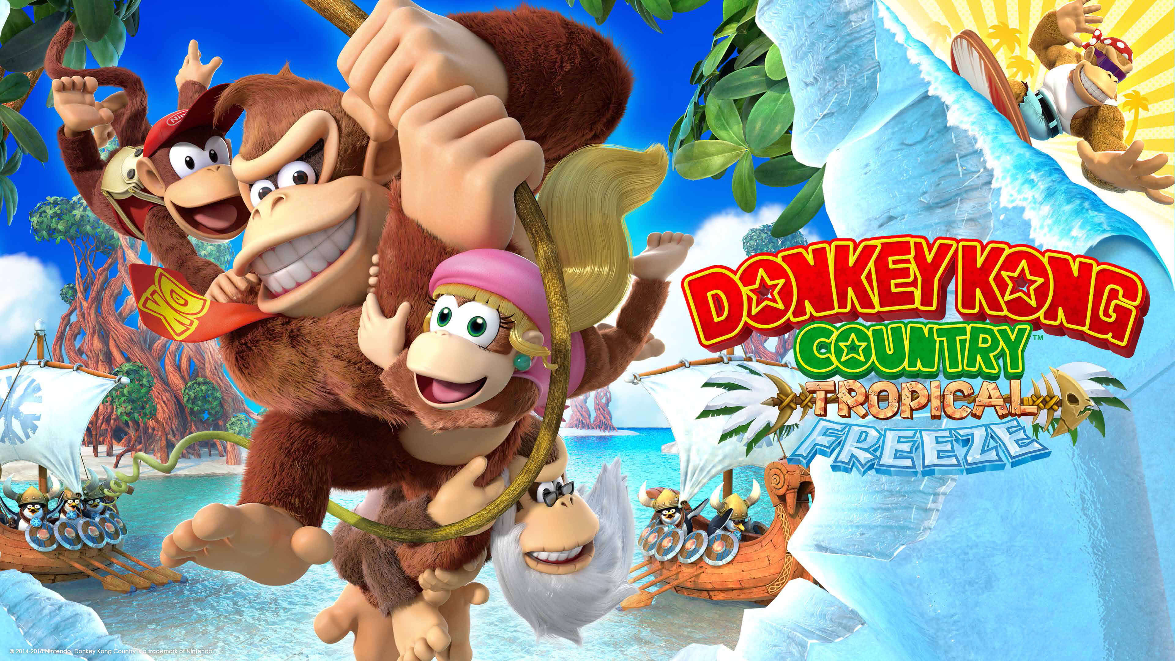donkey kong country tropical freeze uhd 4k wallpaper
