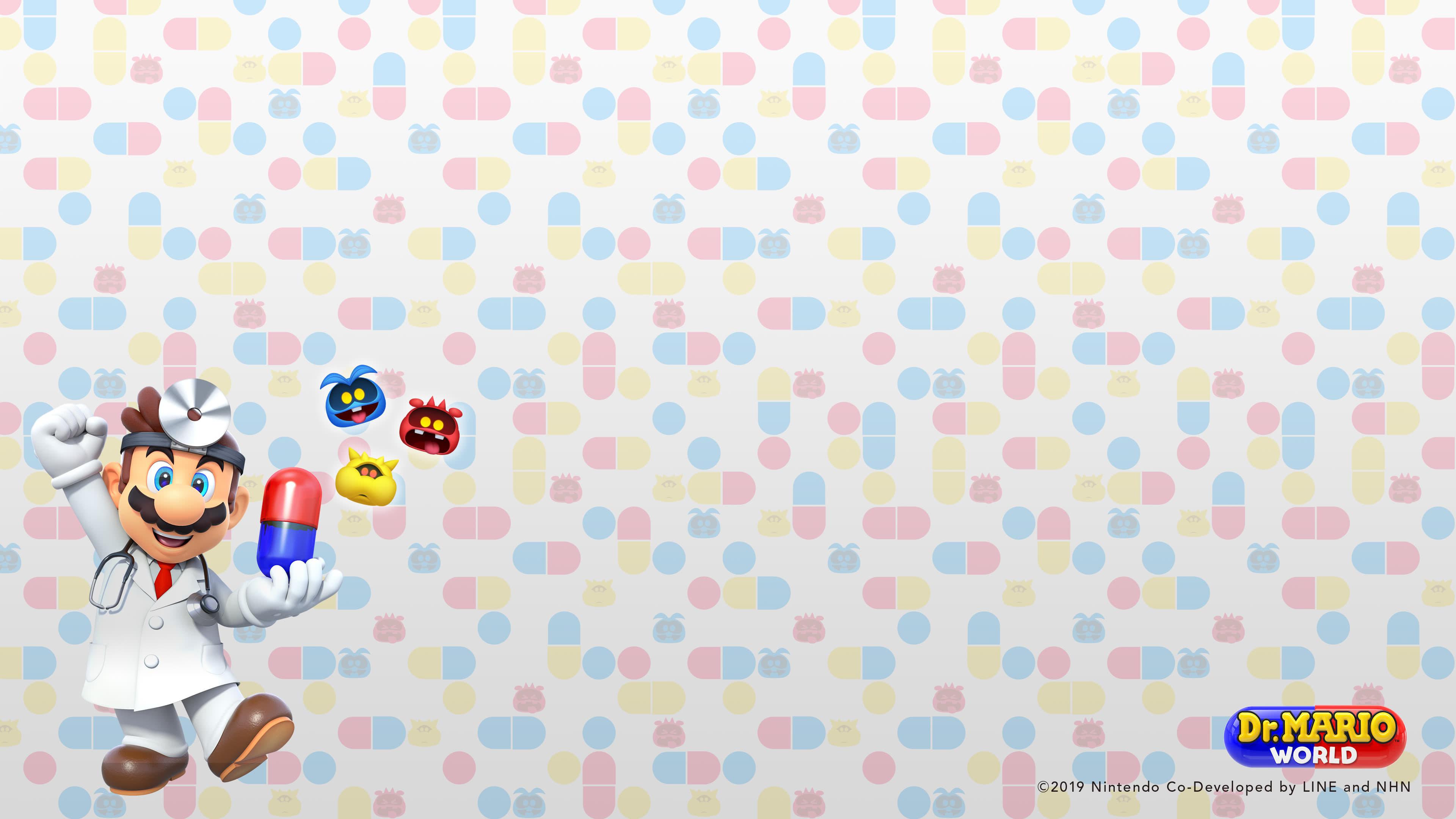 dr mario world b uhd 4k wallpaper