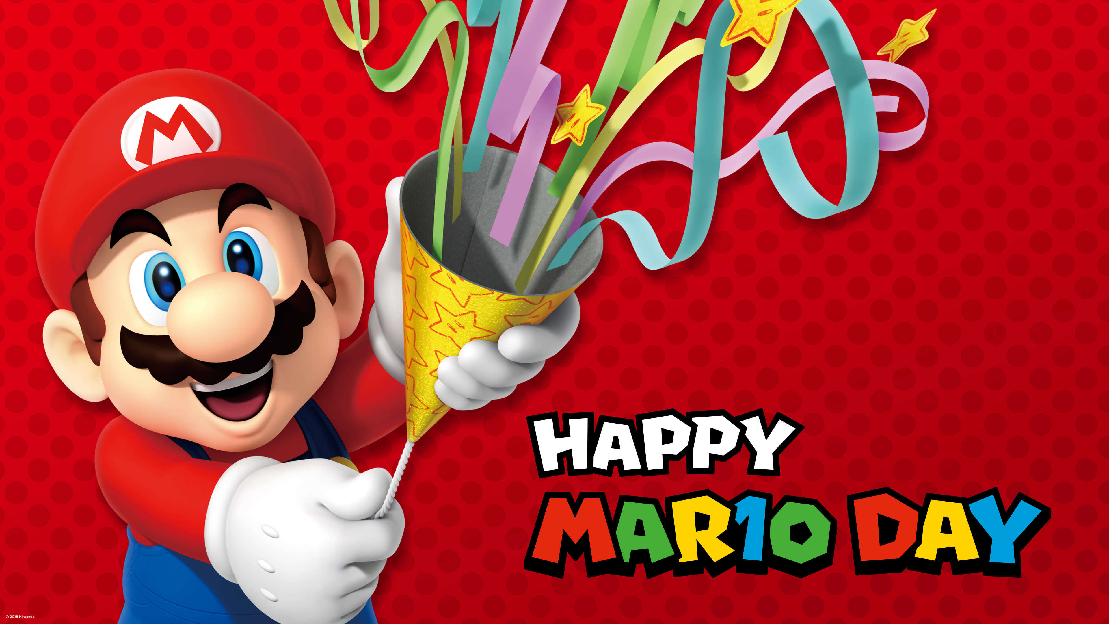 happy mario day celebration uhd 4k wallpaper