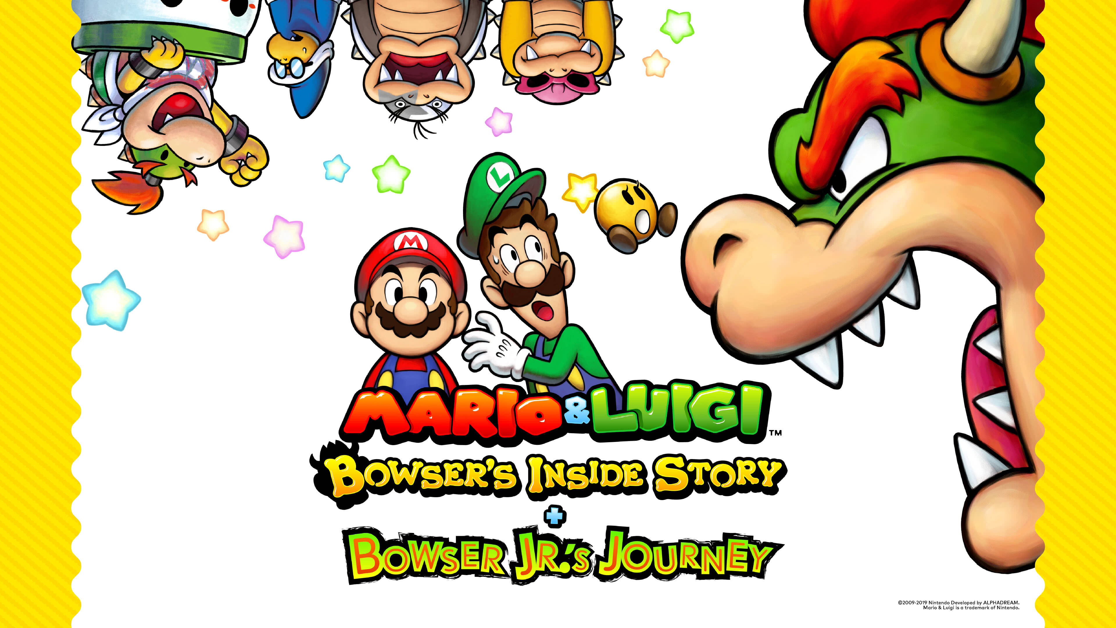 mario and luigi bowsers inside story uhd 4k wallpaper