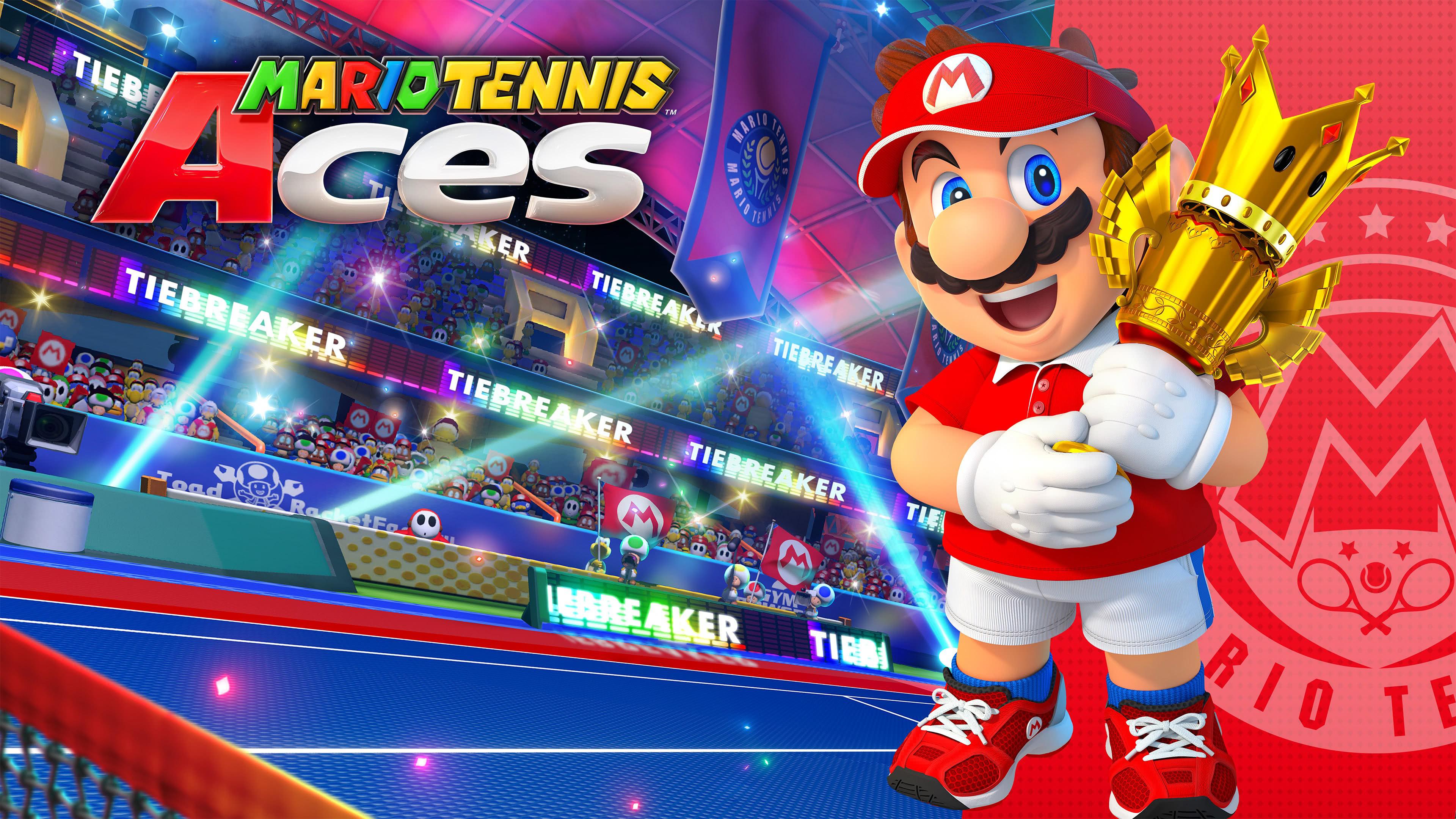 mario tennis aces trophy uhd 4k wallpaper
